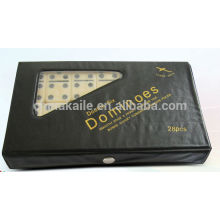 Domino game blocks set with black PVC