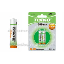 Ni-MH rechargeable battery AAA600MAH