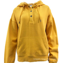 Spring 2021 New Arrival Hot Sale Casual Hoodie With Half Button Placket