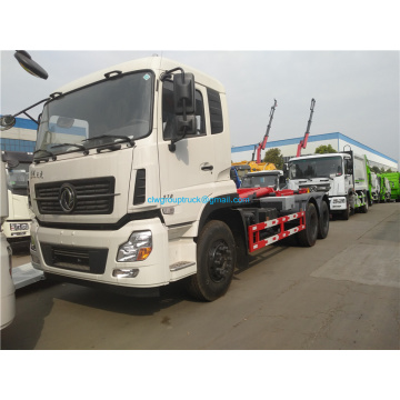 High quality Dongfeng 6x4 hook arm garbage truck