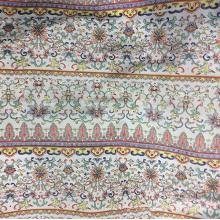 Flor a rayas de poliéster tejido gasa impresa tela Gament