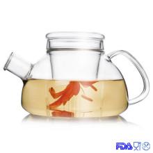 Ручной дутый североевропейский стеклянный цветочный чайник