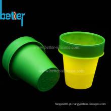 Manga de copo termocrômica de borracha de silicone personalizada