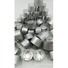 Chinese factory  folded edge  tealight candle aluminum cup tealight candle holder