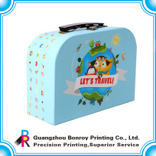 Fábrica de empaquetado de la impresión de la caja de la maleta de la cartulina de encargo
