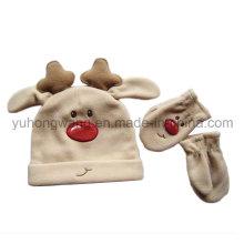 Fashion Kid′s Knitted Winter Warm Polar Fleece Set