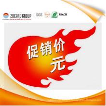 Cadeaux de publicité personnalisés PP Panneau d'affichage du panneau d'avertissement du PVC