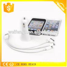 Cargador multi usos del coche del teléfono móvil del puerto del usb con el cable