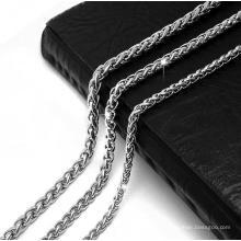 Collar de cadena de serpiente de joyería de moda Color de plata de acero titanium