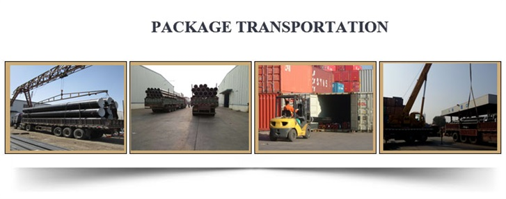 sprial steel pipe package transportation