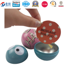Football Shaped Metal Tin Toy for Kids Gift