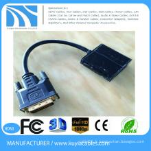Câble adaptateur convertisseur mâle DVI mâle DVI de 15 cm en laiton haute qualité