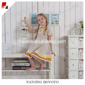 Children clothing wheat suit dress mustard&yellow 2 pieces