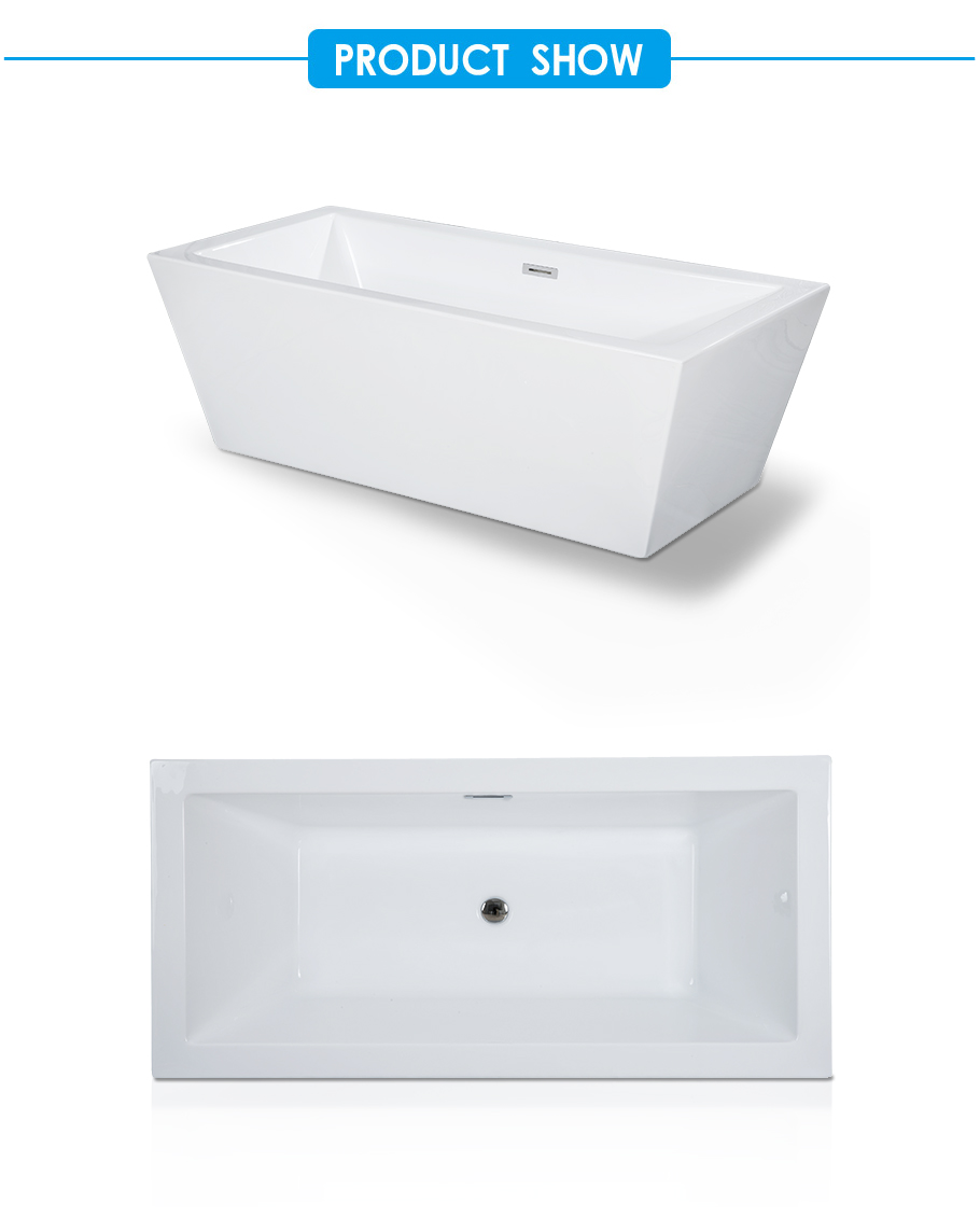 Rachel Square Acrylic Freestanding Bathtub cUPC approved