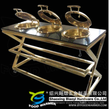 Golden Electric Warming Mobile Chafing Dish Buffet Station
