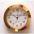 Relógios feitos sob encomenda banhados a ouro da inserção do pulso de disparo de quartzo de Japão mini 65mm