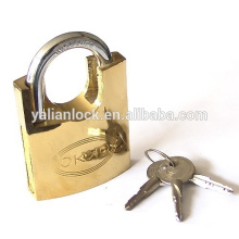 factory supply !! High Security Cheap Shackle Half Protected Cross Key Golden Painted Padlock