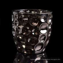 Luxury Glass Candle Jar with Plating Decoration