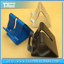 Soporte adhesivo de aluminio simple para tableta soporte para teléfono inteligente