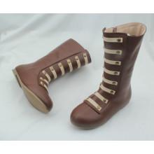 Zapatos al por mayor del cargador del niño de los cabritos altos para el invierno