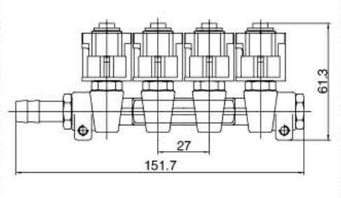 IG1 Apache OMB Type 4 Cylinders 3 Ohms HD LPG / CNG Rail Injectors