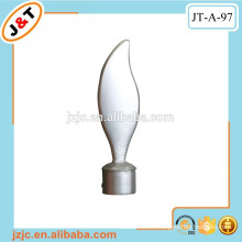 hollow shower metal pole/with decorative metal finial
