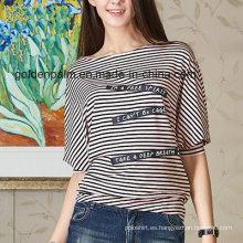Camiseta con diseño de rayas y estilo navy para mujer