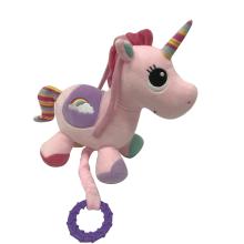 Plush Unicorn Musical Toy Pink