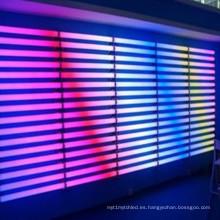 DMX color tubo lineal ilumina la iluminación de la fachada