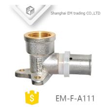 EM-F-A111 Té fixe en nickel nickelé Raccord de raccord droit