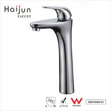 Haijun 2017 New Design Single Handle Deck Mounted Brass Wash Basin Faucet