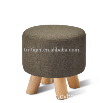 Wholesale Design Fabric Foot Stool Children adult Wood shoes changing stool