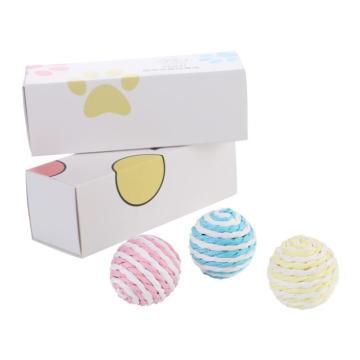ensembles-cadeaux de jouets de boule de chat multicolores interactifs de luxe