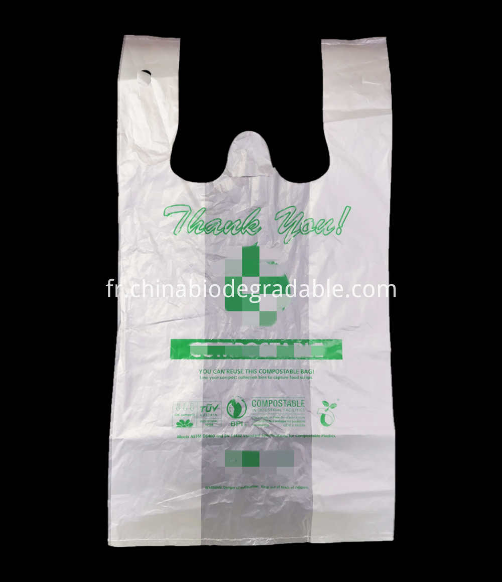 Compostable Cornstarch Shopping Bags