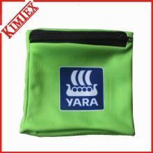 Poliéster Wristband personalizado com bolso Zipper