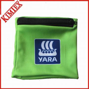 Custom Polyester Wristband with Zipper Pocket