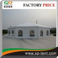 Weißes Dach polygonales Zelt, großes rundes Zelt zum Verkauf