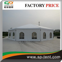 white roof polygonal tent, big round tent for sale