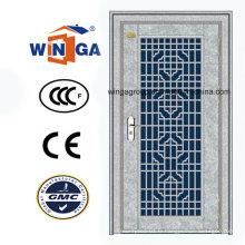 Sécurité en entrée de haute qualité Porte en métal en acier de couleur blanche (W-GH-28)