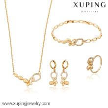 63511- Xuping Anniversary ladies charming jewellery set gold