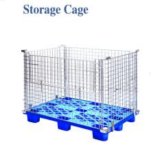 Faltender Metallstahllager-Draht-Paletten-Speicherkäfig