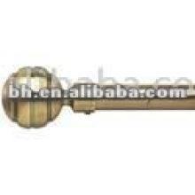 iron antique brass sphere ball metal curtain rods