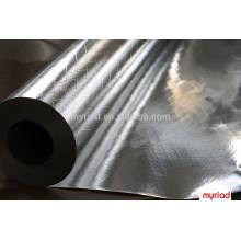 double side aluminum foil 2-way scrim, High quality aluminum thermal reflective foil insulation