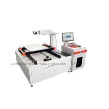 Marqueur laser à grande surface de marquage avec fibre optique avec échelle X et Y