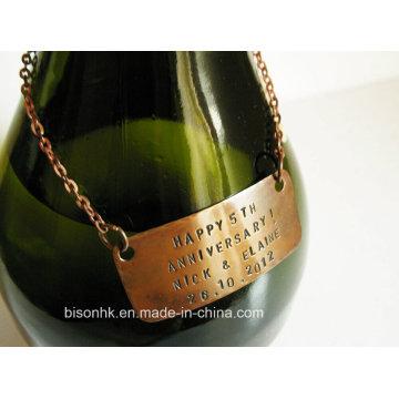 Custom Design Wine Bottle Neck Tag, Wine Tag