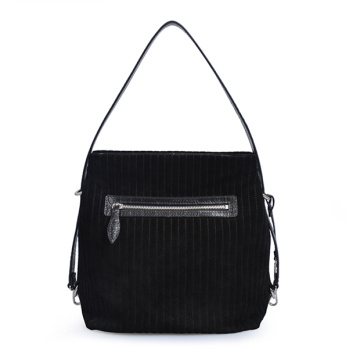 Soft Leather Black Hobo Everyday Bag Bolso para mujer