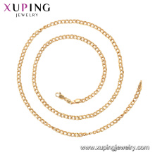 44977 Xuping 18k gold plated simple classic style chain necklace
