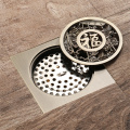 HIDEEP  Antique Full Copper Art Floor Drain