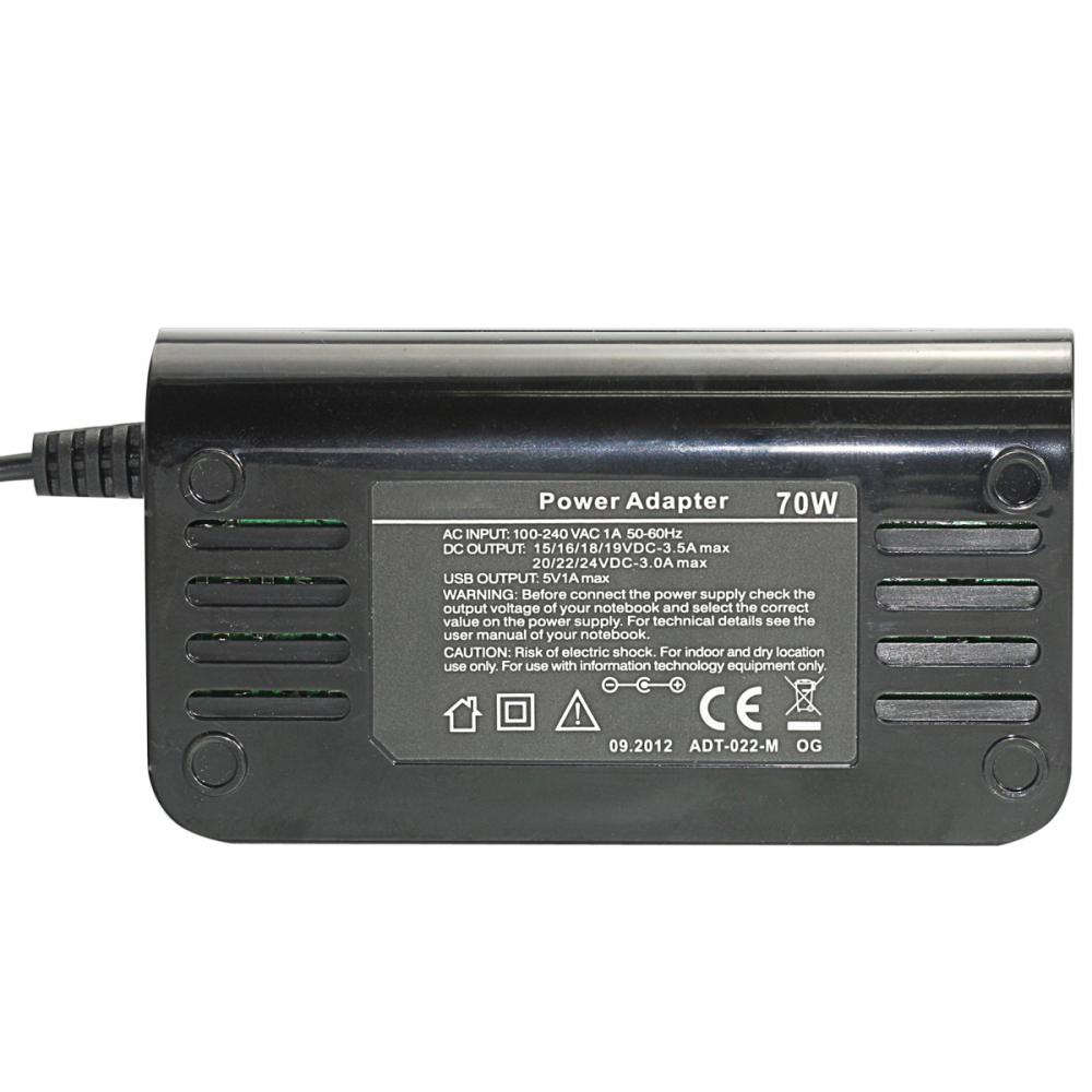 Universal AC Power Adapter -70W
