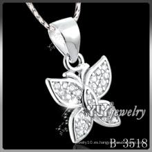 Colgante de mariposa de plata de moda 925 (B-3518)